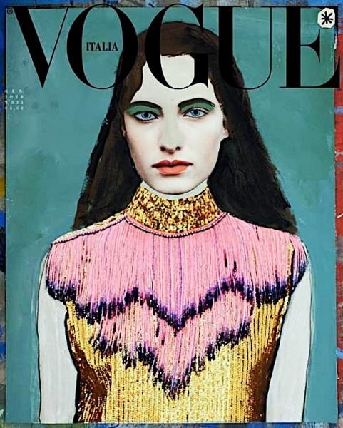 Вперше випуск італійського Vogue вийшов без фотографії на обкладинках